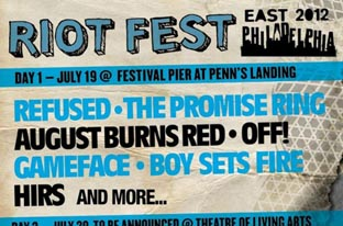 RIOT FEST: Expands To Three Days July, 19, 20, 21 In Philadelphia