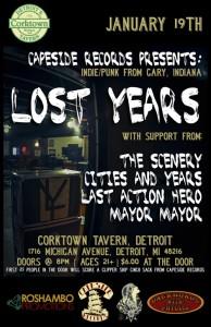 LostYears Corktown show flyer